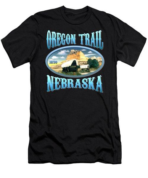 Oregon Trail Nebraska History Design Men's T-Shirt (Athletic Fit)