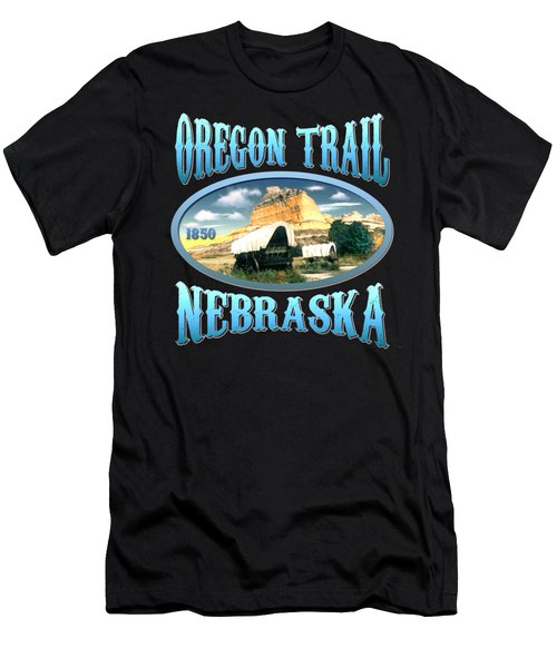 Oregon Trail Nebraska History Design Men's T-Shirt (Athletic Fit)