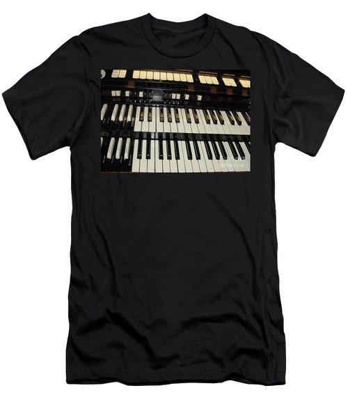 Hammond Organ Keys Men's T-Shirt (Athletic Fit)