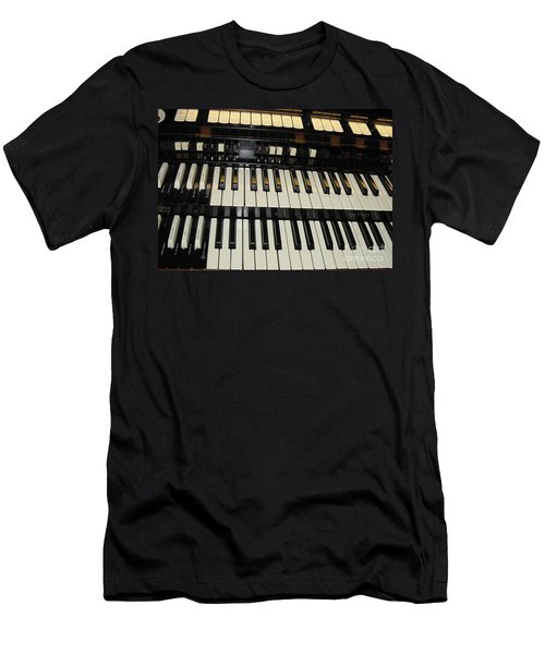 Hammond Organ Keys Men's T-Shirt (Athletic Fit)