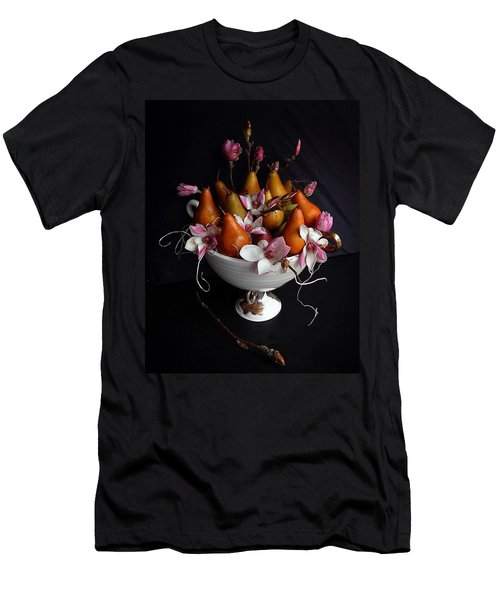 Organic Bosc Pears And Magnolia Blossoms Men's T-Shirt (Athletic Fit)