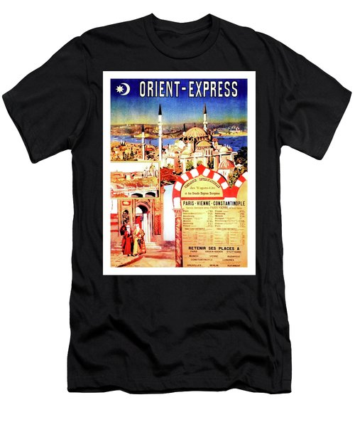 Orient Express, Istanbul, Vintage Travel Poster Men's T-Shirt (Athletic Fit)