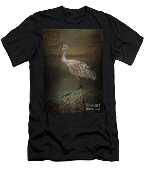 Oriental Sandhill Crane Men's T-Shirt (Athletic Fit)