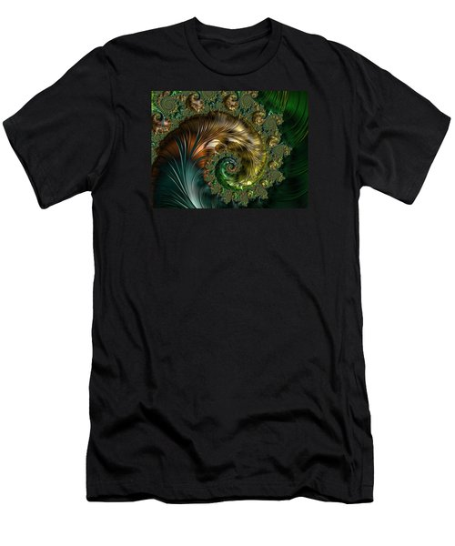 Ornamental Shell Abstract Men's T-Shirt (Athletic Fit)