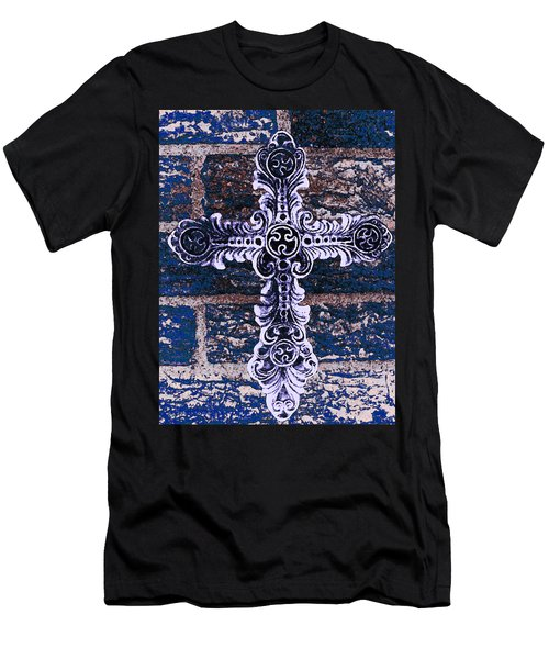Ornate Cross 2 Men's T-Shirt (Slim Fit) by Angelina Vick