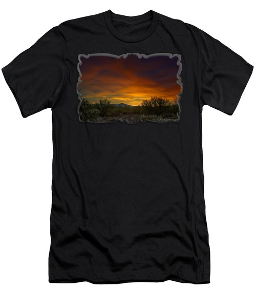 Oro Valley Sunset H02 Men's T-Shirt (Athletic Fit)