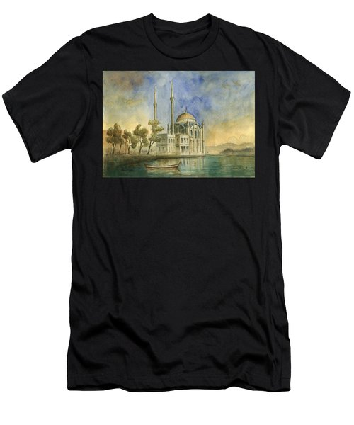 Ortakoy Mosque Istanbul Men's T-Shirt (Athletic Fit)