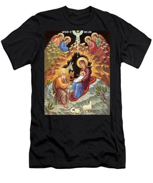 Orthodox Nativity Scene Men's T-Shirt (Athletic Fit)