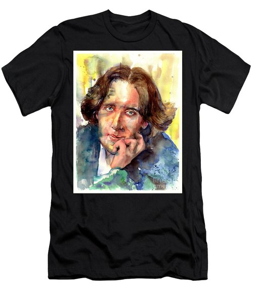 Oscar Wilde Watercolor Men's T-Shirt (Athletic Fit)