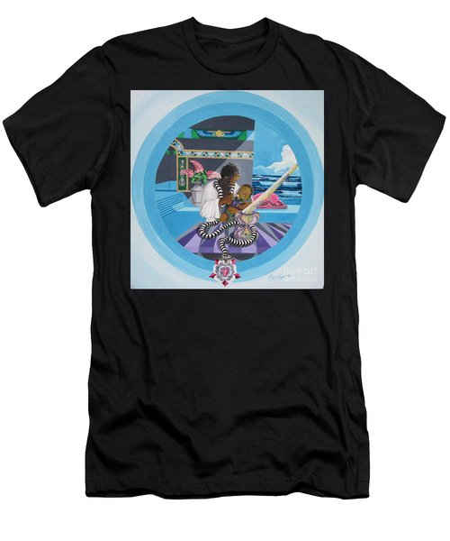 Blaa Kattproduksjoner             Osiris Feeding His Son Horus Men's T-Shirt (Athletic Fit)