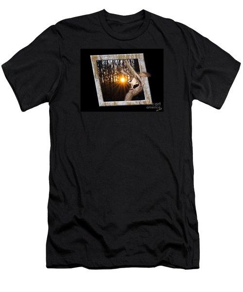 Osprey At Sunset  Black Men's T-Shirt (Athletic Fit)