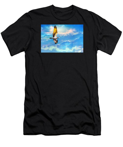 Osprey Soaring High Against A Beautiful Sky Men's T-Shirt (Athletic Fit)