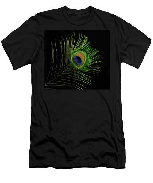 Ostrich Feather Tip Eye Men's T-Shirt (Athletic Fit)