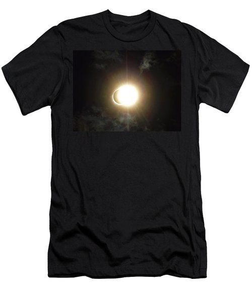 Otherworldly Eclipse-leaving Totality Men's T-Shirt (Athletic Fit)