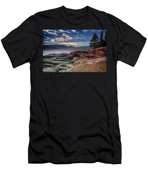 Otter Cove In The Mist Men's T-Shirt (Slim Fit) by Rick Berk