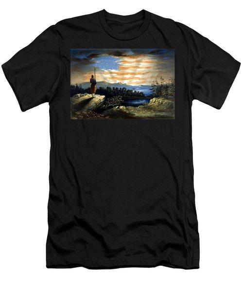 Our Heaven Born Banner Men's T-Shirt (Athletic Fit)