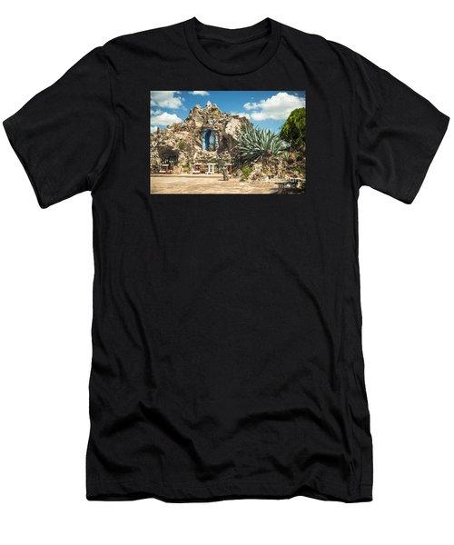 Our Lady Of Lourdes Grotto Men's T-Shirt (Athletic Fit)
