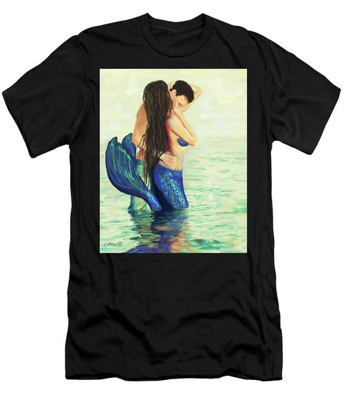 Men's T-Shirt (Athletic Fit) featuring the painting Our Treasured Love by Leslie Allen