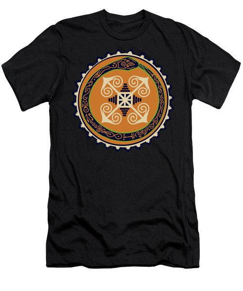 Ouroboros With Devine Fire Wheel Men's T-Shirt (Athletic Fit)
