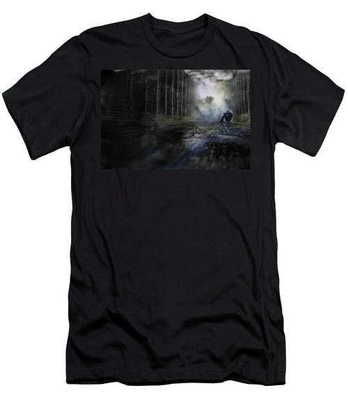 Men's T-Shirt (Slim Fit) featuring the photograph Out Of The Storm by Gray  Artus