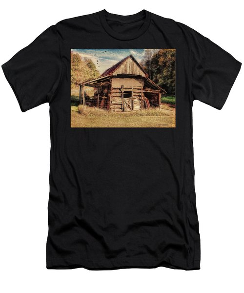 Men's T-Shirt (Athletic Fit) featuring the photograph Out To Pasture 2 by Bellesouth Studio