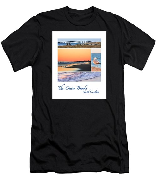 Outer Banks North Carolina Men's T-Shirt (Athletic Fit)