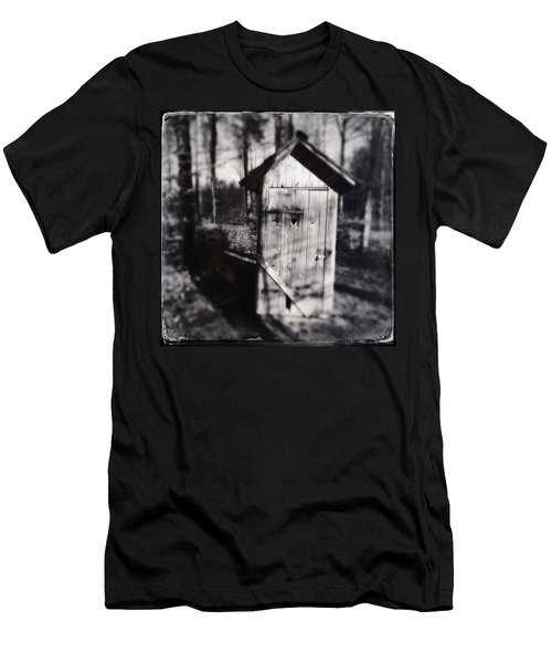 Outhouse Black And White Wetplate Men's T-Shirt (Athletic Fit)