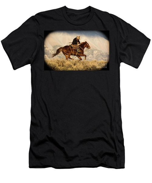 Outlaw Kelly Western Art By Kaylyn Franks Men's T-Shirt (Athletic Fit)