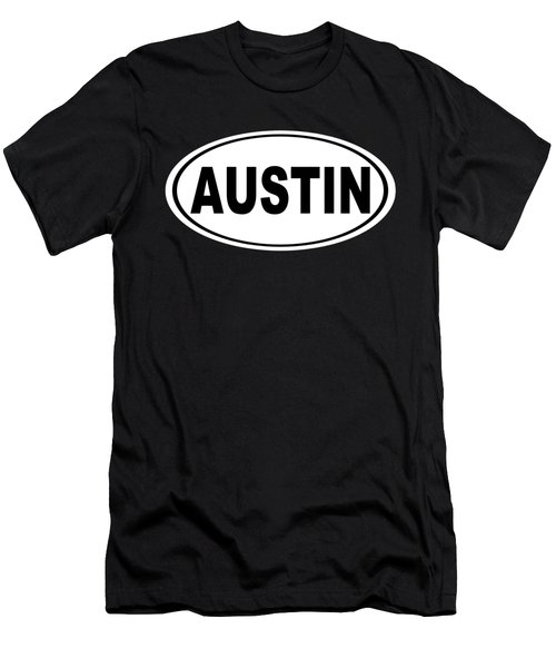 Oval Austin Texas Home Pride Men's T-Shirt (Athletic Fit)