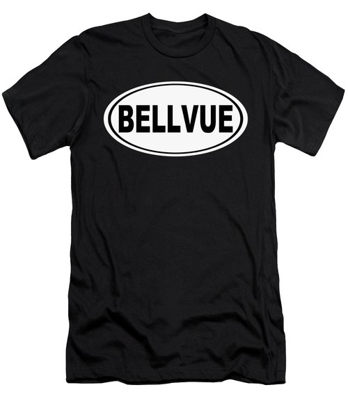 Oval Bellvue Colorado Home Pride Men's T-Shirt (Athletic Fit)