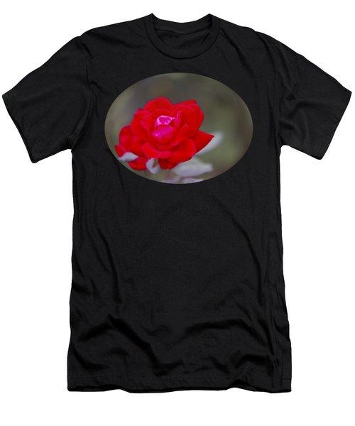 Oval Rose Motif Men's T-Shirt (Athletic Fit)