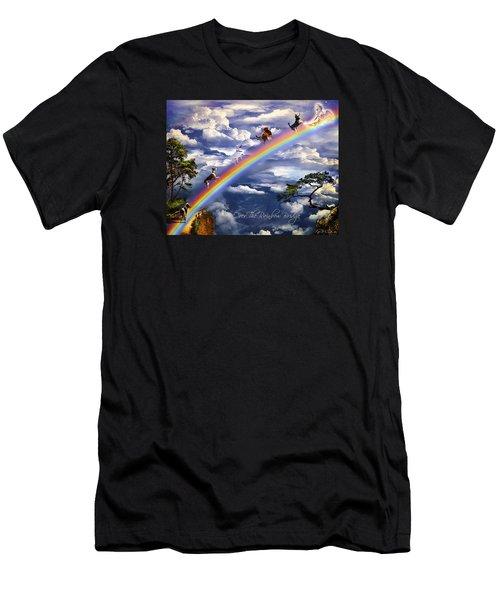 Over The Rainbow Bridge Men's T-Shirt (Athletic Fit)