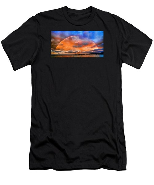 Men's T-Shirt (Slim Fit) featuring the photograph Over The Top Rainbow by Steve Siri