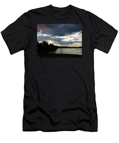 Overcast Morning Along The River Men's T-Shirt (Slim Fit) by Skyler Tipton