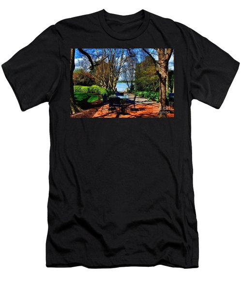 Overlook Cafe Men's T-Shirt (Athletic Fit)