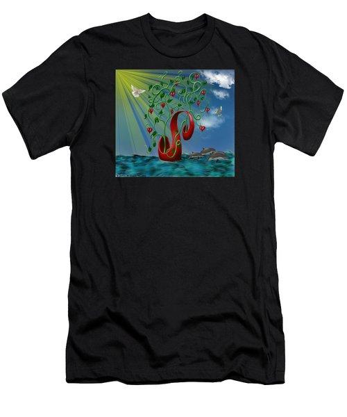 Overseas Hope Men's T-Shirt (Athletic Fit)