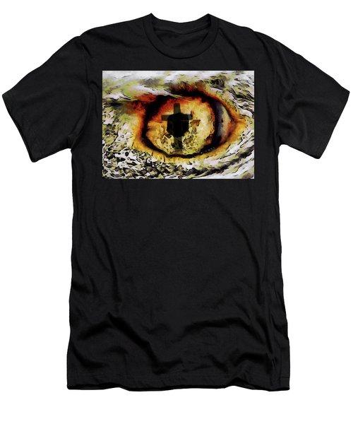 Men's T-Shirt (Slim Fit) featuring the digital art Overwhelmed Remember Him by Ernie Echols