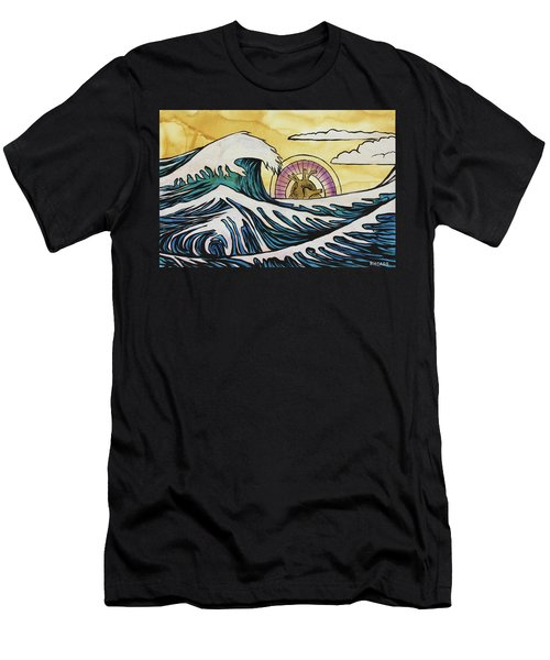 Men's T-Shirt (Athletic Fit) featuring the painting Overwhelming Love by Nathan Rhoads