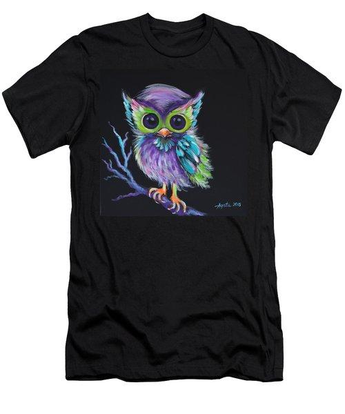 Owl Be Your Friend Men's T-Shirt (Slim Fit) by Agata Lindquist