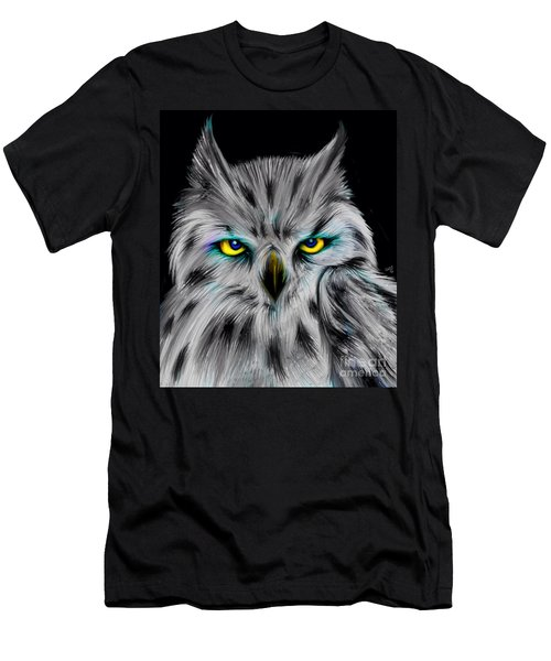 Men's T-Shirt (Slim Fit) featuring the drawing Owl Eyes  by Nick Gustafson