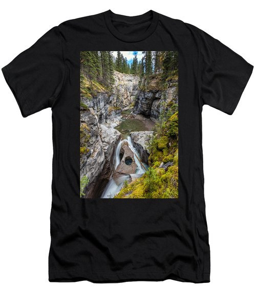 Owl Face Falls Of Maligne Canyon Men's T-Shirt (Athletic Fit)