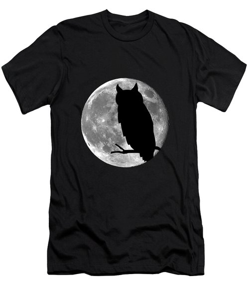 Owl Moon .png Men's T-Shirt (Slim Fit) by Al Powell Photography USA