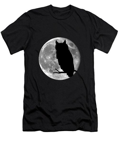 Owl Moon .png Men's T-Shirt (Athletic Fit)