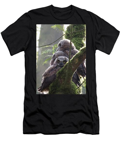 Owl Morning Men's T-Shirt (Athletic Fit)