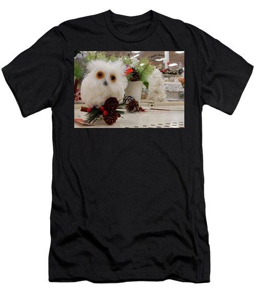 Owl On The Shelf Men's T-Shirt (Athletic Fit)