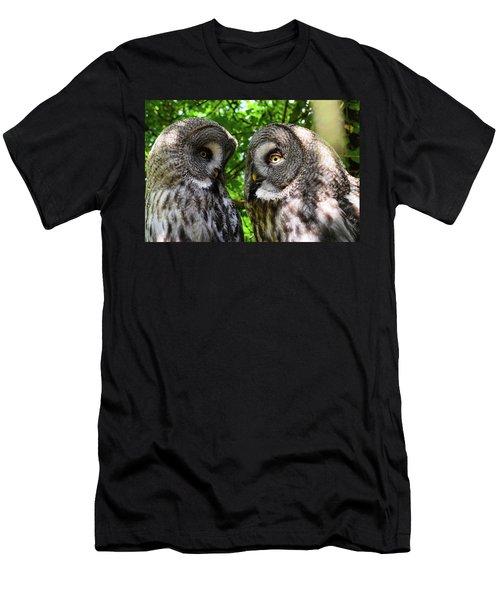 Owl Talk Men's T-Shirt (Athletic Fit)