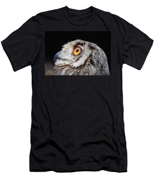 Owl The Grand-duc Men's T-Shirt (Slim Fit) by Mary-Lee Sanders