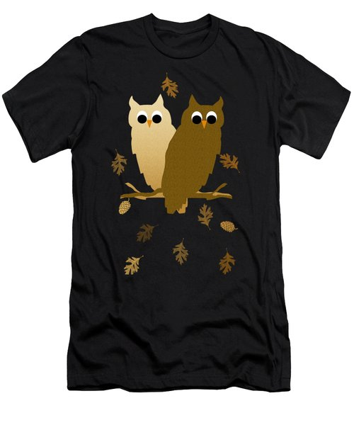 Owls Pattern Art Men's T-Shirt (Athletic Fit)
