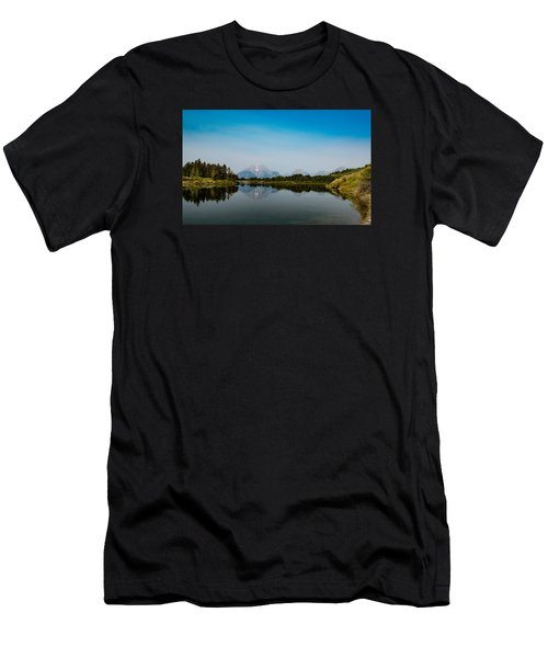 Men's T-Shirt (Slim Fit) featuring the photograph Oxbow Bend by Cathy Donohoue