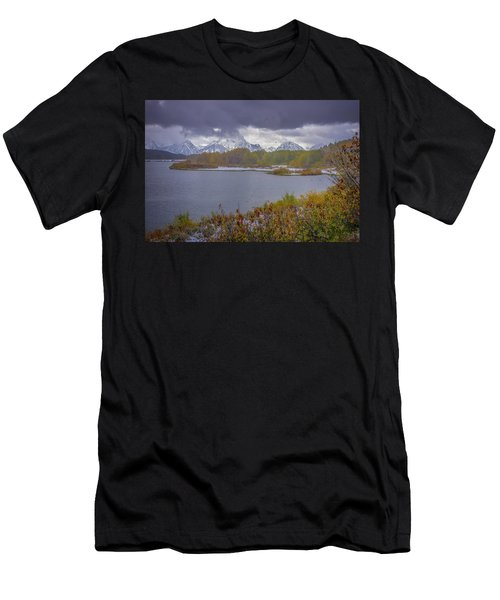 Oxbow Bend Fall Snowfall Men's T-Shirt (Athletic Fit)